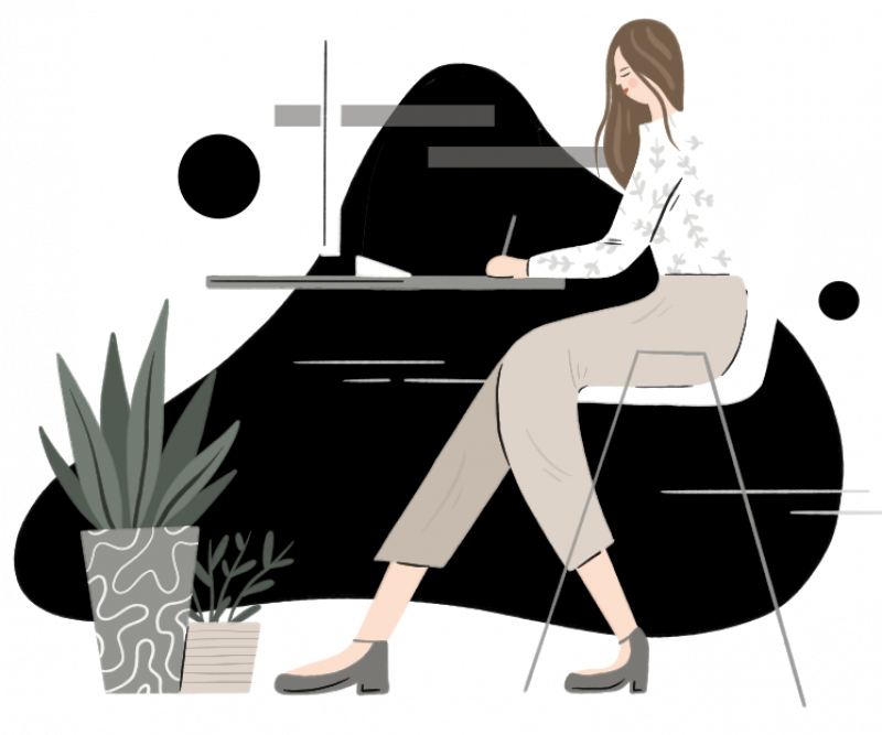 woman at desk search engine optimization strategy